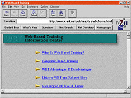1994: WBTIC displayed in Mozaic Netscape browser version 0.9 Beta