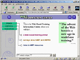 1997: WBTIC displayed in Netscape 4.78 browser